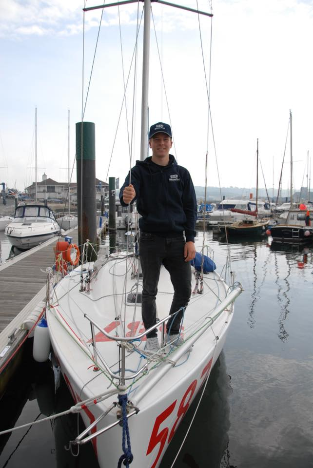 Blue Fin sponsors Plymouth sailor Paddy Hutchings